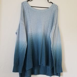 American Eagle Outfitters blue ombre sweater